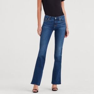 7 For All Mankind Kimmie Bootcut Fitted Denim Jean